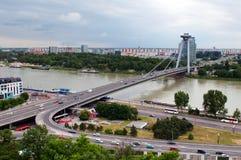 мост главным образом s bratislava Стоковое Изображение