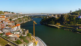 Мост города Порту, Португалия Стоковое фото RF