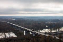 Мост городка Стоковые Изображения RF