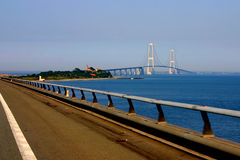 мост Дания пояса большая стоковое изображение