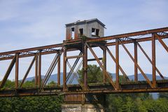 мост деревенский Стоковые Фотографии RF
