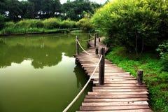 мост деревянный Стоковая Фотография