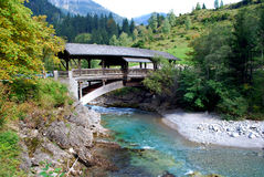 мост деревянный Стоковое Изображение RF
