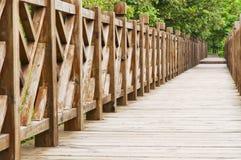 мост деревянный Стоковое Фото