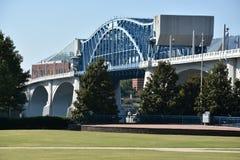 Мост Джона Ross на улице рынка в Chattanooga, Теннесси Стоковая Фотография