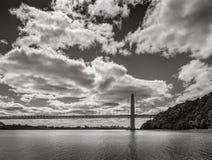 Мост Джорджа Вашингтона и Гудзон город New York Стоковое Изображение