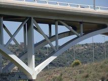 Мост для того чтобы пересечь реку llobregat стоковые фото