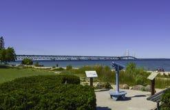Мост для того чтобы соединить Мичиган стоковое изображение rf