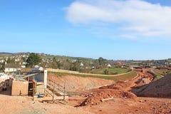 Мост дороги под конструкцией стоковое изображение