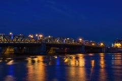 Мост дороги Rochester на сумраке Стоковые Изображения
