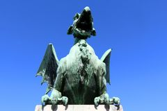 Мост дракона, Любляна Стоковое фото RF