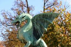 Мост дракона, Любляна Стоковые Фотографии RF
