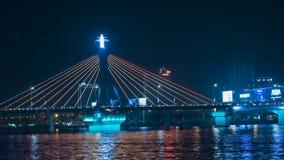 Мост дракона Danang вечером
