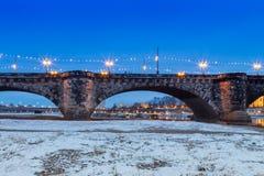 Мост Дрезден cke ¼ Augustusbrà Стоковые Фото