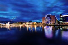 Мост Дублин Сэмюэла Беккета, Ирландия стоковое фото