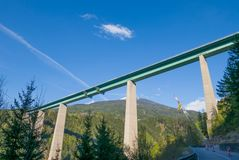 Мост Европы соединяя Австрию с Италией Стоковые Изображения RF