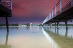 Мост еды над водой Стоковая Фотография RF