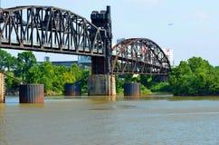 Мост железной дороги острова утеса. Стоковая Фотография RF