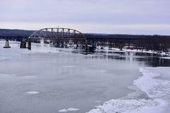 Мост железной дороги Buzzi Unicem-LaSalle Стоковые Изображения