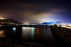 Мост железной дороги Балтимора & Огайо - Река Огайо Стоковые Изображения