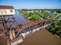 Мост железной дороги Katy на Boonville Стоковое фото RF