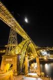 Мост желтого цвета Dom Joao Стоковое Изображение RF