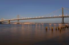 Мост залива Окленд стоковая фотография