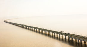 Мост залива ` s Ханчжоу Китая Стоковые Фотографии RF