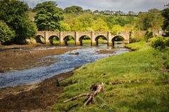 Мост замка Buncrana Графство Donegal Ирландия стоковые изображения rf