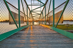 Мост захода солнца острова казино - HDR Стоковое фото RF