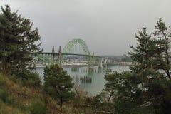Мост залива Ньюпорта Стоковое Изображение