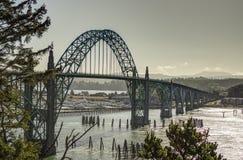 Мост залива Yaquina, Ньюпорт, Орегон Стоковые Фотографии RF