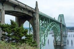 Мост залива Yaquina Стоковые Изображения RF