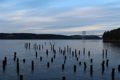 Мост звука Puget Стоковые Изображения RF