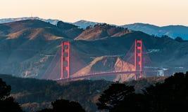 Мост золотого строба в Сан-Франциско Калифорнии США Стоковые Изображения RF
