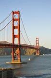 Мост золотого строба в свете после полудня Стоковое фото RF