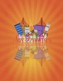 Мост золотого строба горизонта конспекта Сан-Франциско  Стоковые Фотографии RF