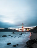 Мост золотого строба, известный ориентир ориентир в Сан-Франциско Калифорнии Стоковая Фотография RF