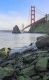 Мост золотого строба от хлебопека форта Стоковое фото RF