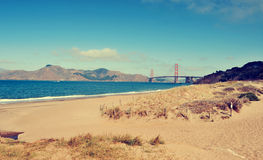 Мост золотого строба, Сан-Франциско, Соединенные Штаты Стоковые Изображения RF