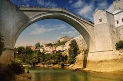 мост известный mostar Боснии Стоковая Фотография