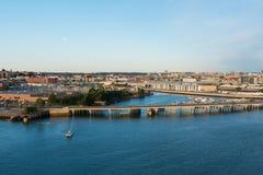 Мост и внутренняя гавань Стоковые Фото