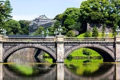 Мост и вода Nijubashi стоковая фотография