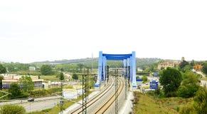 Мост и железнодорожные пути Стоковое фото RF