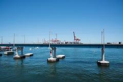 Мост и порт Fremantle Стоковые Изображения RF