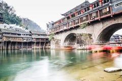 мост и река Стоковые Фото
