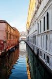 Мост канала Венеции вздохов Стоковая Фотография