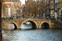 Мост канала Амстердама Стоковое Изображение