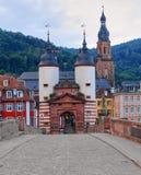 Мост Карл Theodor, Гейдельберг Германия стоковая фотография rf