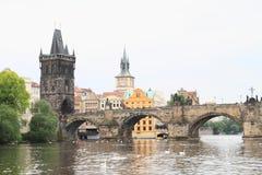 Мост Карла в Праге Стоковые Изображения RF